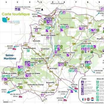 Carte touristique du territoire Lyons Andelle