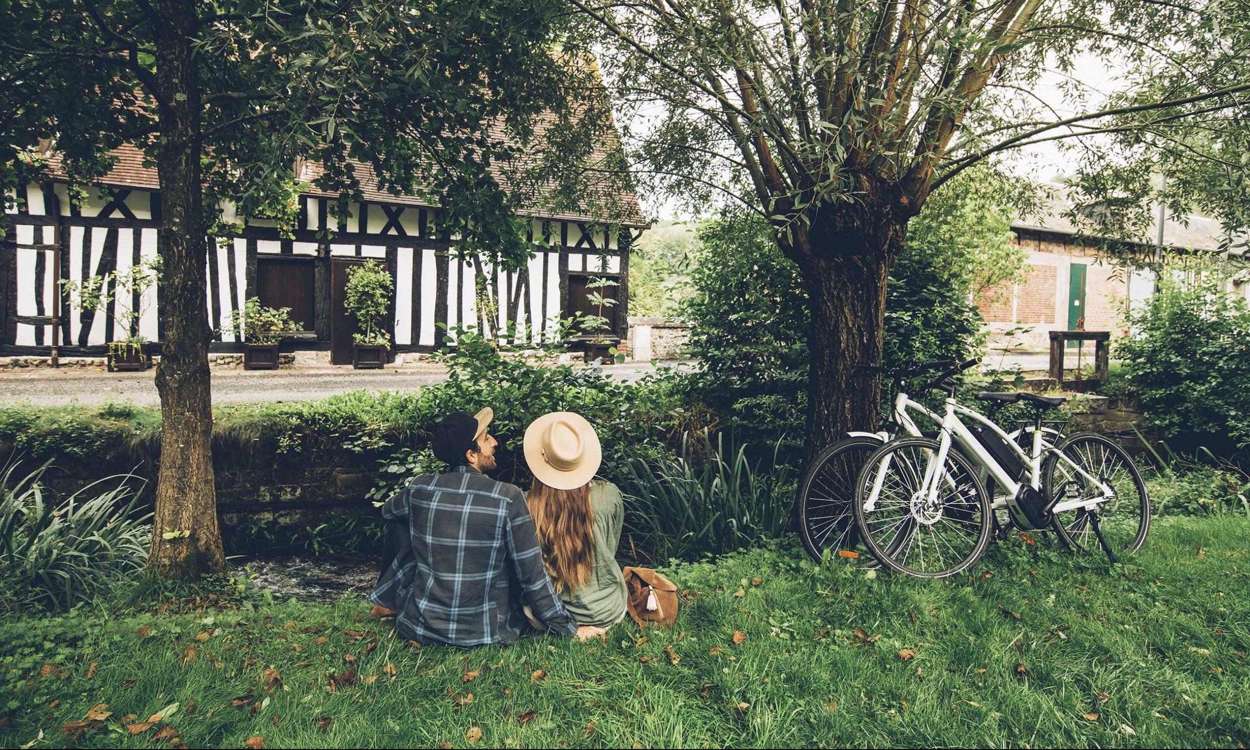 Pause, balade à vélo à Lyons-la-Forêt